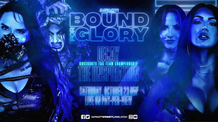 The IInspiration disputará o Knockouts Tag Team Championship no IMPACT Bound For Glory